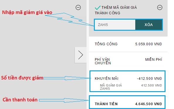 Cách sử dụng mã giảm giá Zalora