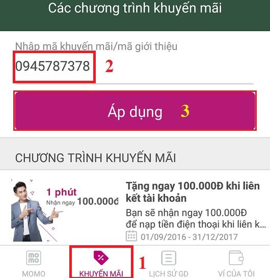 nhận 100K miễn phí từ Ví MoMo
