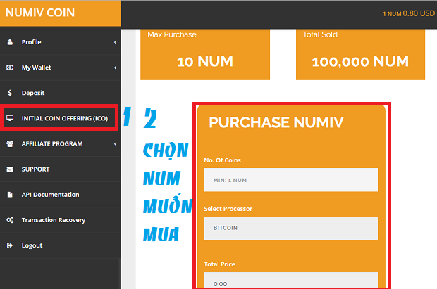 cach mua numivcoin